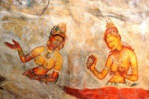 Sigiriya_frescoes_2